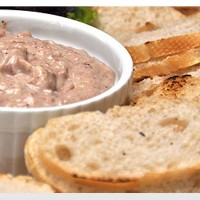 Easy Liver Pate in Baguette
