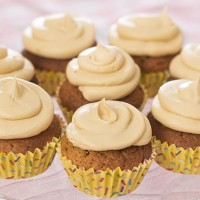 Coffee Cupcakes with Peanut Butter Frosting