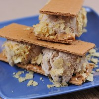 Coffee Peanut Butter Ice Cream Sandwich