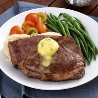 Beef Sirloin with Herbed Butter