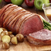 Oven Roasted Bacon Wrapped Beef Tenderloin
